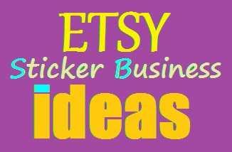 Etsy sticker business Ideas