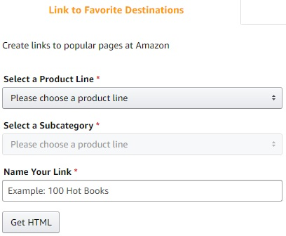 Amazon Afilliate Link to product line example