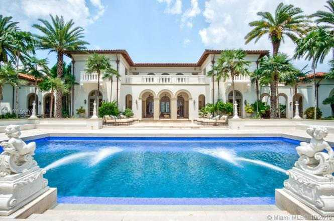 Picture of a very expensive home for sale in Florida.
